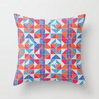 portugal Throw Pillows featuring Portugal by Stephanie Anne Design