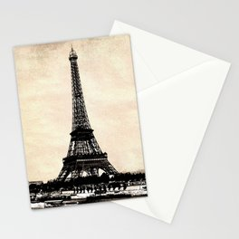 VINTAGE EIFFEL TOWER IN SEPIA Stationery Cards