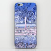 washington dc iPhone & iPod Skins featuring washington dc city skyline by Bekim ART