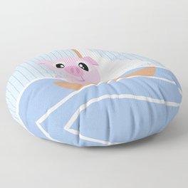 Mobil series pig sailboat Floor Pillow