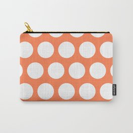 Big polka dots on coral Carry-All Pouch