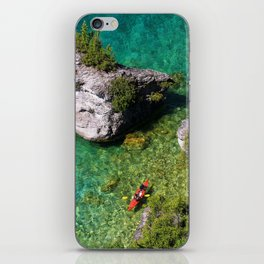Kayaking In The Bruce Peninsula iPhone Skin
