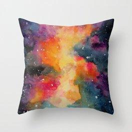 Rainbow Nebula Throw Pillow