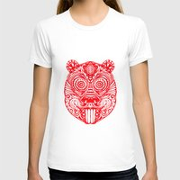 beaver T-shirts featuring Tiki Beaver  by natewilsongraphics