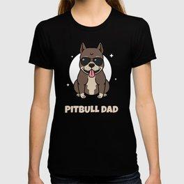 Mens Cool Funny Pitbull Dad graphic - Pitbull Dog With Shades T-shirt