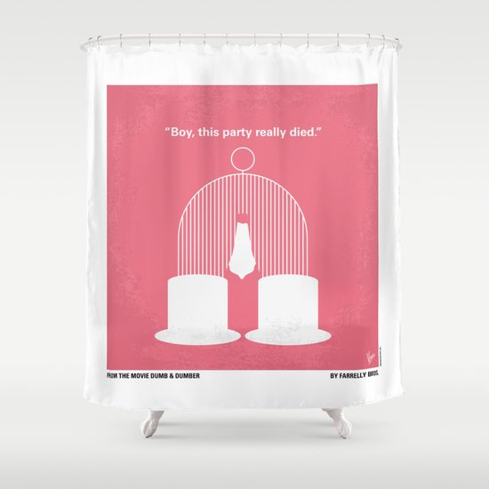No241 My Dumb & Dumber minimal movie poster Shower Curtain