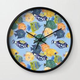 colorful aquarium fishes Wall Clock