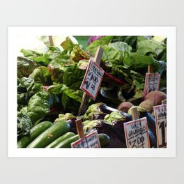 Vegetable Stand - Pike Place Market Art Print