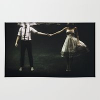 large Area & Throw Rugs featuring abyss of the disheartened : IX by Heather Landis