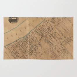 Vintage Map of Springfield MA (1851) Rug