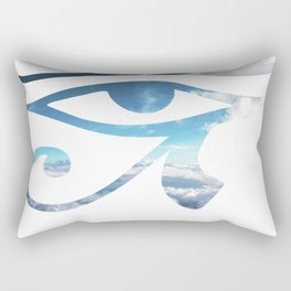 Eye of Horus Sky Background Rectangular Pillow
