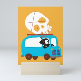 Death on wheels Mini Art Print