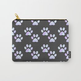 Pastel Paw Prints Carry-All Pouch