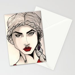 The Woman with the Platinum Hair Stationery Cards