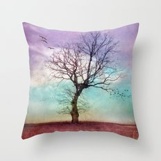 ATMOSPHERIC TREE | Early Morning Throw Pillow