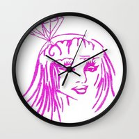 nicki Wall Clocks featuring cronart by cronart