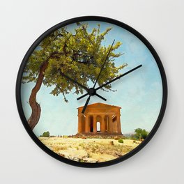 Sicily, Agrigento and the Valley of the Temples Wall Clock