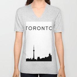 Toronto Skyline Graphic Unisex V-Neck