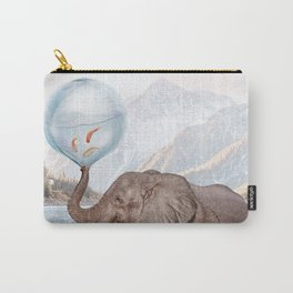 In a Bubble Carry-All Pouch