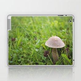 Mushroom in the Morning Dew by Althéa Photo Laptop & iPad Skin