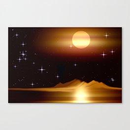 Dort, wo die Sterne leuchten. Canvas Print