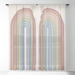 Gradient Arch XXIV Sheer Curtain