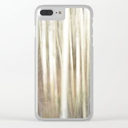 Abstract Aspens Clear iPhone Case
