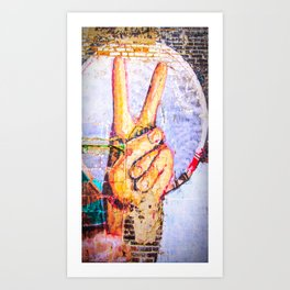Peace at the Wall Art Print