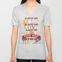 Hanukkah Joy Hanukkah Love Shirt Unisex V-Neck