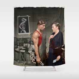 Promotion on job Shower Curtain