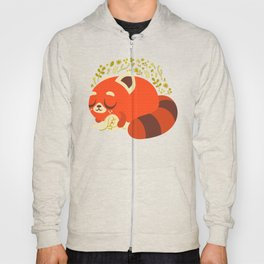 Sleeping Red Panda and Bunny / Cute Animals Hoody