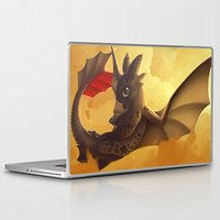 toothless Laptop & iPad Skins featuring Toothless! by NezuPanda