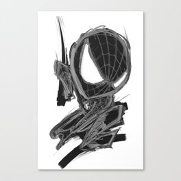 Black Spider Canvas Print