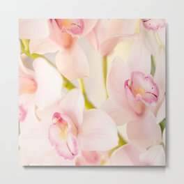 Orchid Flower Bouquet On A Light Background #decor #society6 #homedecor Metal Print
