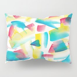 180719 Koh-I-Noor Watercolour Abstract 31  Watercolor Brush Strokes Pillow Sham
