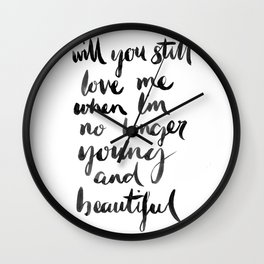 Young and Beautiful Wall Clock
