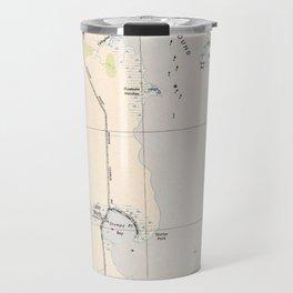 Vintage Map of Roanoke Island & Outer Banks NC Travel Mug