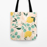 Tote Bags featuring Lemon Party by emma trithart