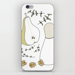 Pear Salad (Illustrated Recipe) iPhone Skin