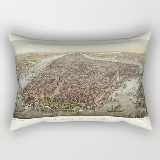 New York 1870 Rectangular Pillow