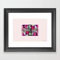 Violet Triangulation Framed Art Print