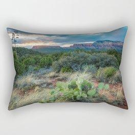 Southwest Serenade - Sunset at Sedona Arizona Rectangular Pillow