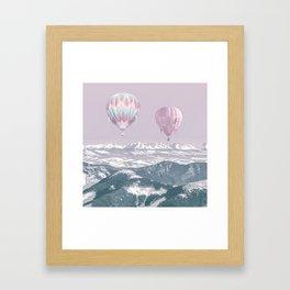 Surreal Journey In A Hot Air Ballon Framed Art Print