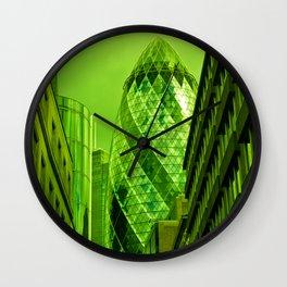 the Gherkin In Green Wall Clock