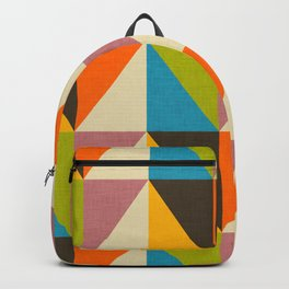 Retro Color Block Chevron Color Fun Backpack