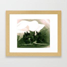 The Great Lakes Basin Framed Art Print