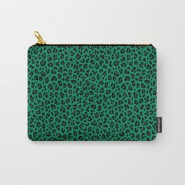 LEOPARD PRINT in GREEN | Collection : Leopard spots – Punk Rock Animal Print Carry-All Pouch
