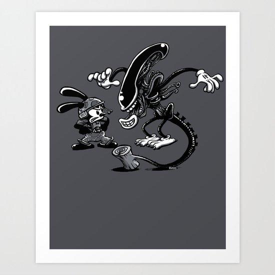 Alien vs Oswald Art Print