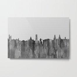 Aberdeen, Scotland Skyline - Navaho B&W Metal Print