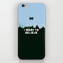 i want to believe. iPhone Skin